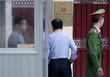 출근하는 김명길 주베트남북한대사