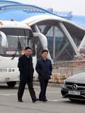 프리모스키수족관 시찰 마친 北 실무진들