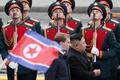 김정은 위원장, 러시아 의장대 사열
