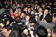 국회 의안과 앞, 민주-한국 극한 대립