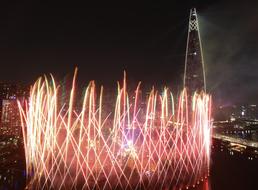 롯데월드타워 '불꽃 축제'
