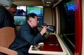 北 김정은 위원장, 시험사격 참관
