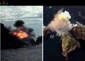 북한 '신형 방사포 사격' 당시 공개