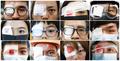 안대로 눈 가린 홍콩 시위대