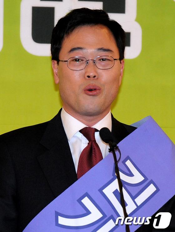 정견발표하는 김기식 후보
