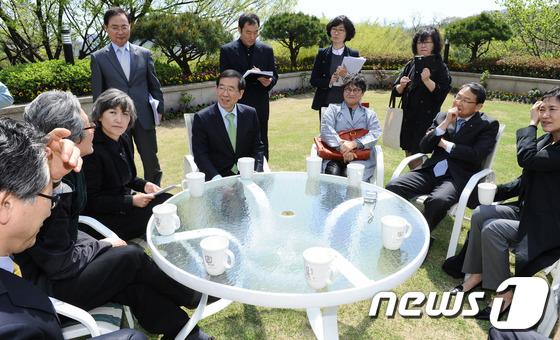 박원순 시장, 북촌한옥마을 주민들과의 대화