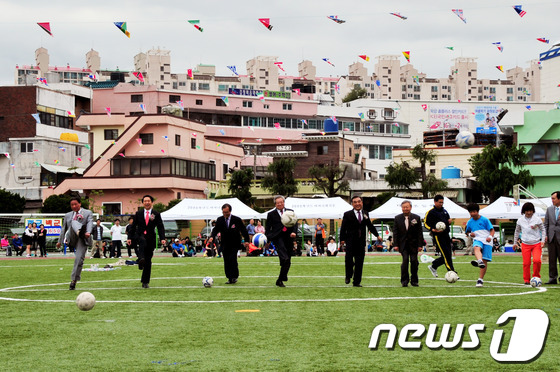 울산 대현초 인조잔디 운동장 개장