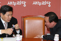 홍문종-김재원 '국정원개혁특위 대화?'