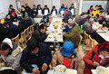 노숙인을 위한 실내급식시설 개소식