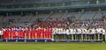 나란히 시상대에 선 남북 여자축구