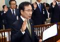 국감 선서하는 문상부 중앙선관위 사무총장