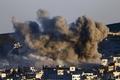 [사진]미군공습에 포연 자욱한 코바니