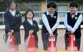 소화기 체험하는 학생들