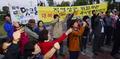대북전단 살포 중단 외치는 파주시민들