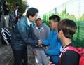 조희연 교육감, 테니스 경기장 방문해 학생들 격려