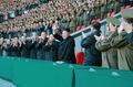 북한 김정은, 여자 축구 경기관람