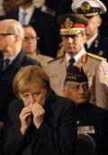 [사진]메르켈 총리 감기걸렸나?