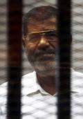 [사진]쿠데타로 쫓겨난 무르시 전 이집트대통령 재판