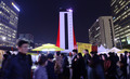 사랑의 온도탑 설치된 광화문광장