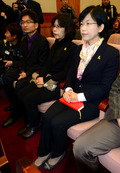 이정희 대표, 공개변론 참석