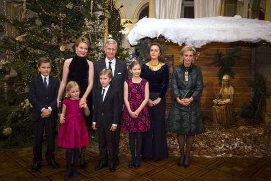 성탄 연주회 참석한 벨기에 왕가
