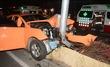 택시 염창역 앞 중앙분리대 충돌
