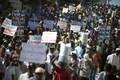 [사진]아이티, 마르텔리 대통령 사임촉구 대규모 시위