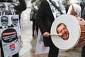 [사진]터키 반정부시위대 '얼마나 대통령이  미웠으면…'