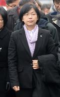 긴장된 표정의 이정희 대표
