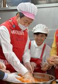 김무성 대표 '도시락 봉사활동'