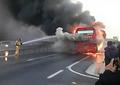 불길 치솟는 버스