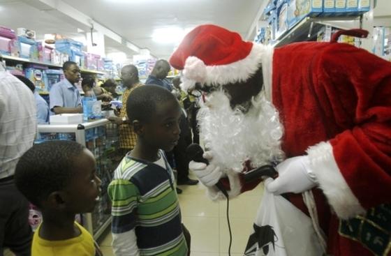 아프리카의 검은 산타