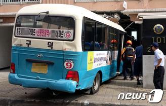 부산 마을버스 아파트 돌진사고
