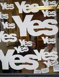 [사진]스코틀랜드 독립투표 D-3 '예스 물결'
