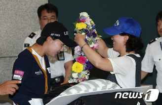LPGA 메이저 우승 김효주 귀국