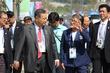 모리 요시로 전 일본 총리, 구월아시아드 선수촌 방문