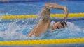 일본 고스케 자유형 400m 은메달 획득