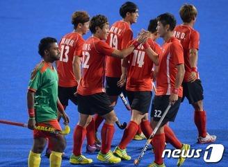 남자 하키 대표팀, 조별리그 전승으로 4강 진출