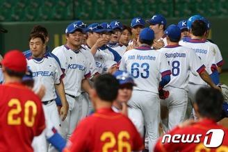 인천AG 한국 야구 대표팀, 중국 꺽고 결승 진출