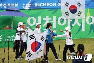 한국 여자양궁 역시 강했다