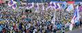 금융노조 총파업...목동운동장서 대규모 집회