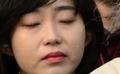 이석기 전 의원 징역 9년, 눈물 흘리는 김재연