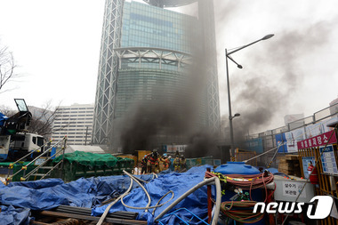 지하철 1호선 종각역 공사현장 화재