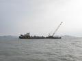 침몰한 세월호 촬영하고 있는 현대보령호