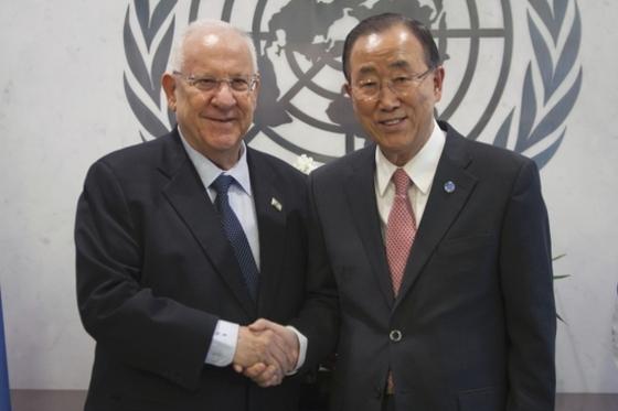 이스라엘 대통령 만나는 반기문
