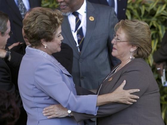 남미의 두 여걸…브라질과 칠레 대통령