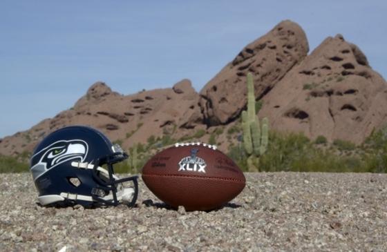 사막에서 홍보하는 슈퍼볼