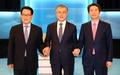손잡은 새정치민주연합 당대표 후보들