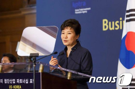 """朴대통령 """"한국 TPP 가입, 한미기업에 많은 이익가져다 줄것""""(종합)"""