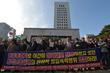 민중총궐기 불법폭력행위 규탄하는 보수단체 회원들 title=